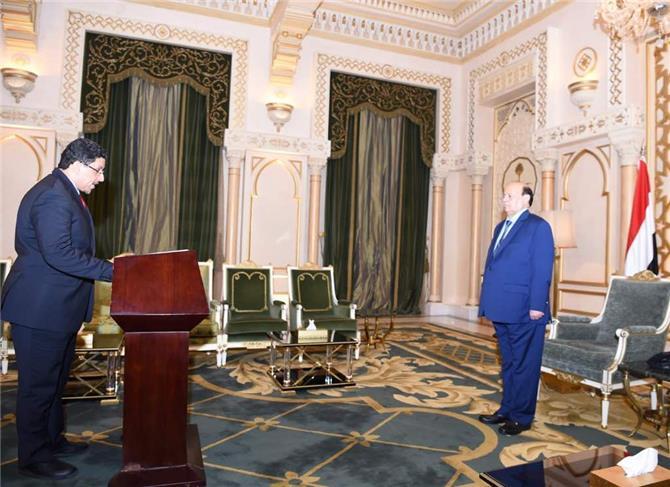 بن مبارك يؤدي اليمين الدستورية بمناسبة تعيينه مندوباً دائماً لليمن لدى الامم المتحدة