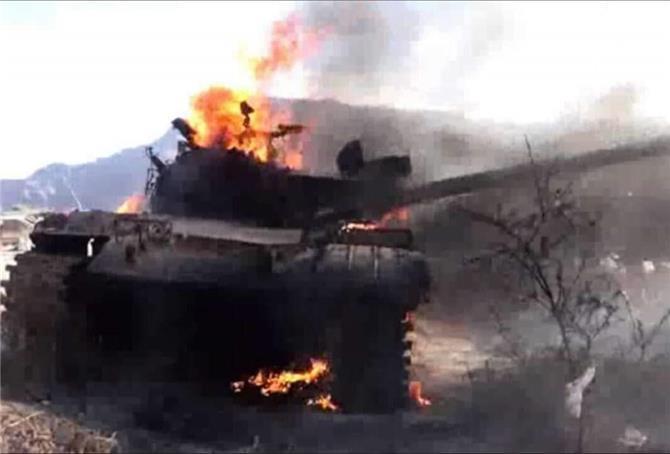 الضالع.. معارك عنيفة والنيران تلتهم دبابات وآليات الحوثي وتفحم جثث العشرات منهم