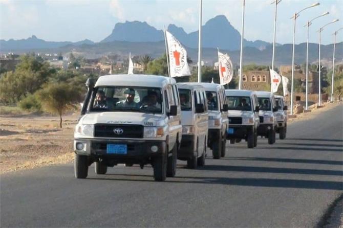 نهب 10 سيارات للبعثة الدولية للصليب الأحمر بمارب