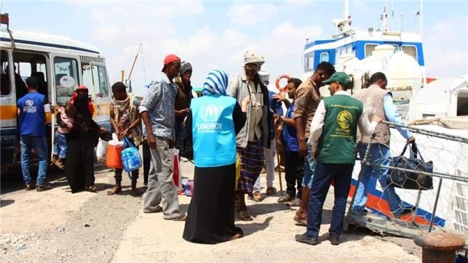 مغادرة 117 لاجئ صومالي من عدن إلى بلادهم