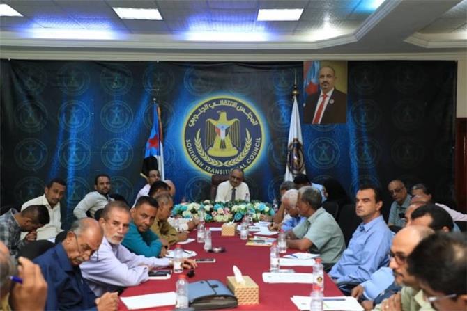 لقاءات دورية للتنسيق بين انتقالي عدن ودوائر الأمانة