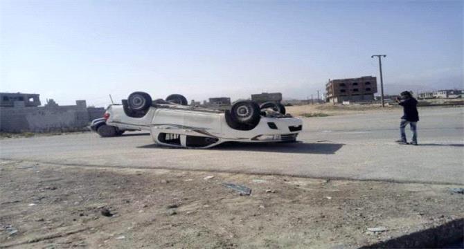نجاة قائد لواء بارشيد من حادث مروري في المكلا