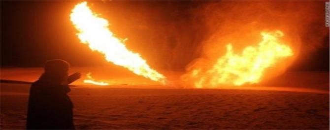 مسلحون مجهولون يستهدفون أنبوباً لنقل النفط في شبوة