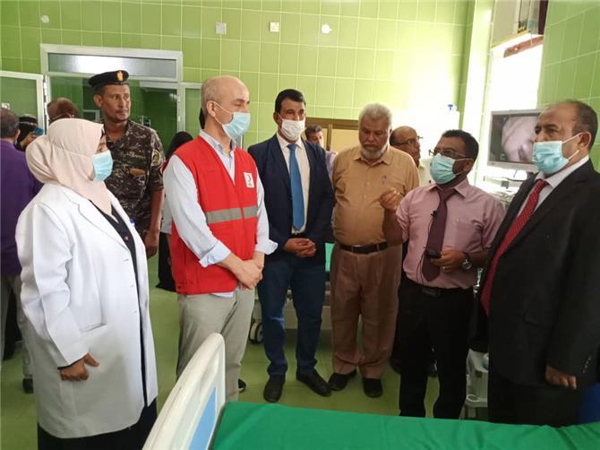 إفتتاح قسم المناظير بمستشفى الصداقة في عدن