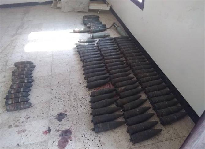 قوات الحزام الأمني تعثر على قذائف متنوعة بعدن