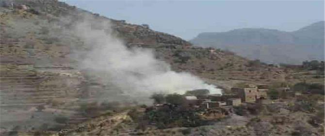 قصف صاروخي حوثي يستهدف أحياء سكنية في الضالع