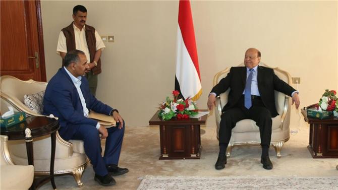 هادي يلتقي الزبيدي اليوم وسط توافق على إعلان الحكومة خلال أيام