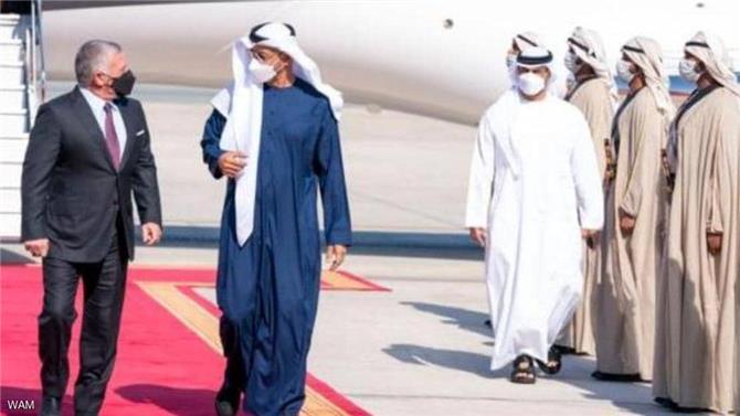 محمد بن زايد والملك عبد الله يبحثان ملفات إقليمية ودولية