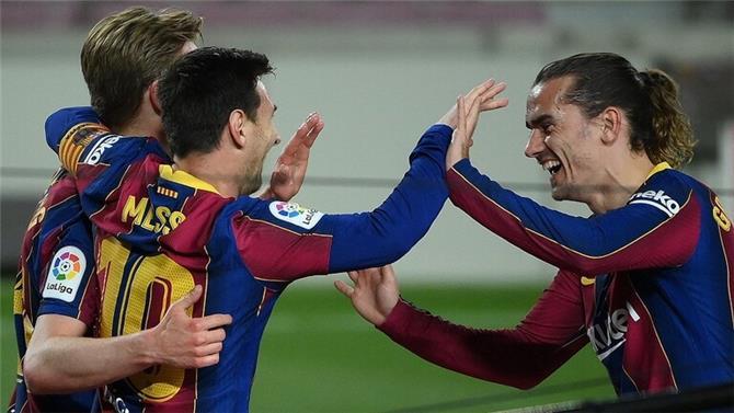 بخماسية.. برشلونة يكتسح خيتافي ويشعل الصراع على لقب