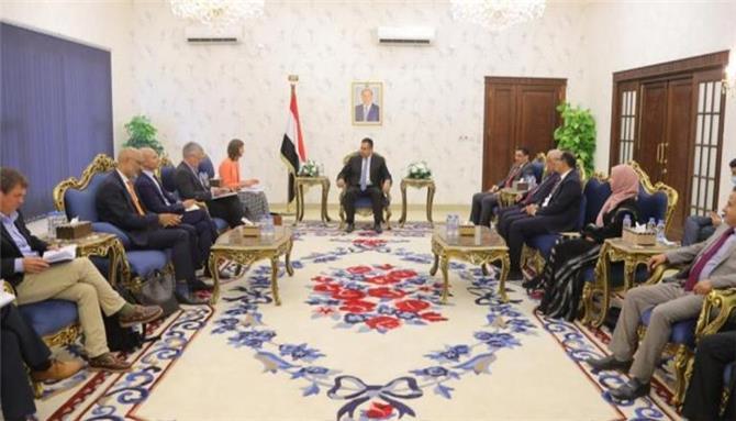 اليمن لسفراء أوروبيين: تصعيد الحوثي حرب شاملة ضد السلام